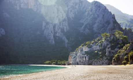 The ancient ruins of Olympos.