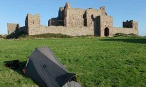 Wild camping on Piel Island, Cumbria