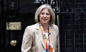 Britain's Home Secretary Theresa May