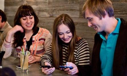 Friends using Foursquare