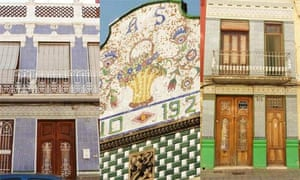 Colourful facades in Valencia's Cabanyal district