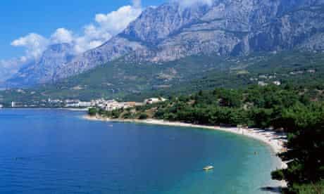 Makarska on the Dalmatian coast of Croatia