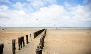 Knokke beach, Flanders coast, Belgium