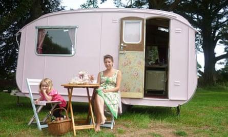 Lovelane vintage caravan, Cornwall