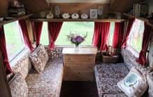 Lovelane vintage caravan interior