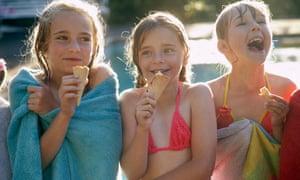 Eating ice-cream in summer