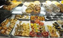 Cakes at Pompi cafe, Rome