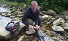 Andy Pietrasik with a Basque trout