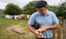 Pierre Oteiza's free range and native breed pig farm