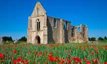 Ruins of Abbaye des Chateliers on Ile de Re, France