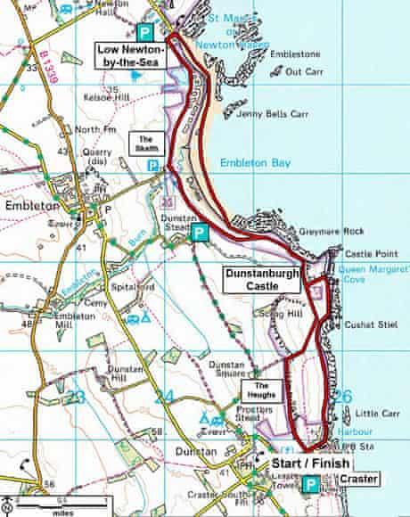 National Trust walk: Craster to Low Newton, Northumberland