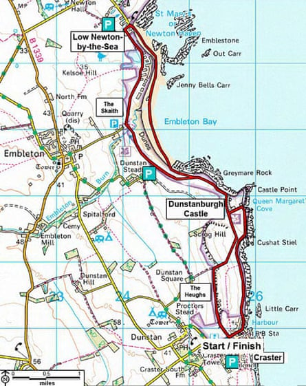 National Trust walk: Craster to Low Newton, Northumberland