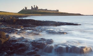 Ruins of Dunstanburgh Castle, Near Embleton, Northumberland, England