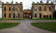 Sutton Scarsdale Hall stately home in Derbyshire
