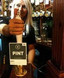 Pint at the Marble Arch pub, Manchester