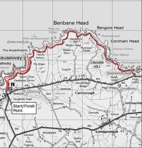 Map Of Ireland Giants Causeway.Top 10 Uk Walks North Antrim Coast Northern Ireland Travel The