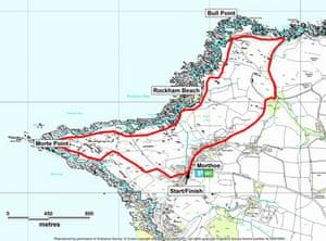 Morte Point and Bull Point walk in Devon