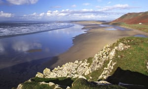 Rhosilli Bay on the Gower Peninsula in South Wales