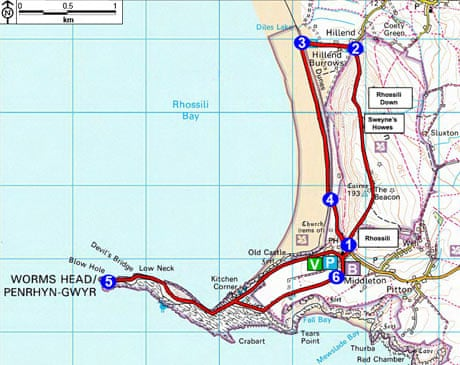 Top 10 UK walks Rhossili Downs and Bay Swansea  Travel  The