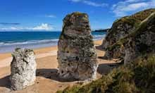 White Rocks beach on the North Antrim coast, Ireland