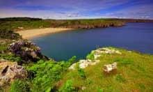 Barafundle Bay beach, Wales