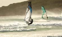 Windsurfing at Tiree, Hebrides, Scotland