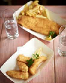 Rockfish seafood and chips, Dartmouth, Devon