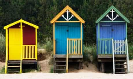 Beach Huts in Wells, Norfolk, UK