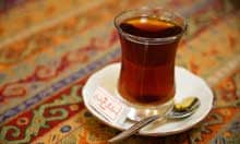 Cup of tea at the Grand Bazaar, Istanbul, Turkey