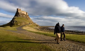 Lindisfarne Castle on Holy Island, Northumberland, England