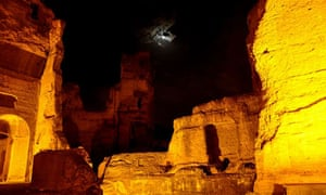 Night tours of Baths of Caracalla, Rome