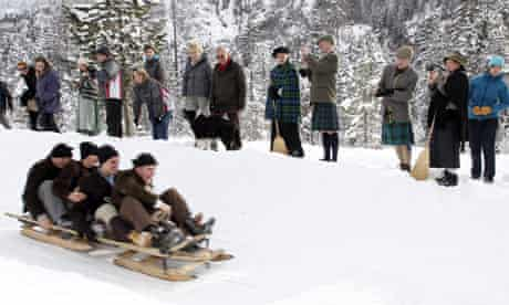 A bobsleigh race in Kanderstag's Belle Epoque festival
