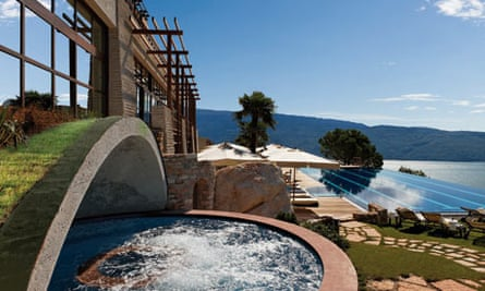The Lefay Resort & Spa in Italy overlooks Lake Garda