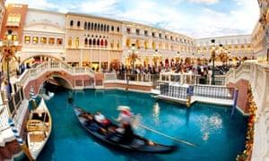 Gondola in the Venetian Hotel, Las Vegas USA