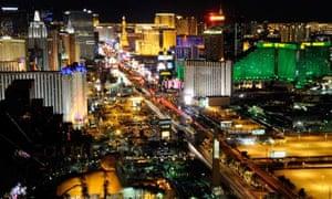 View from the Mandalay Bay Resort & Casino, Las Vegas.