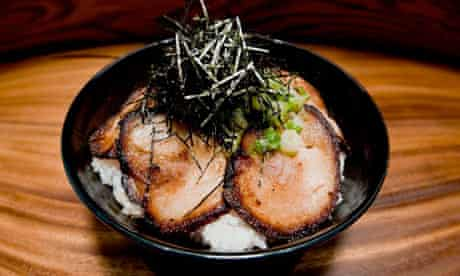 Chashu served at the Monta restaurant, Las Vegas.