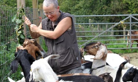 Ruth Bowen and goats