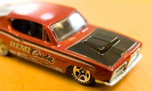 Close up of a 1960s model Hemi Cuda