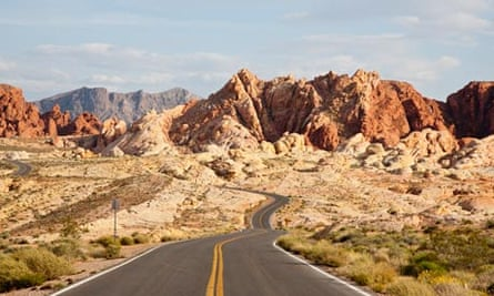 Road through the Valley of Fire, Nevada.