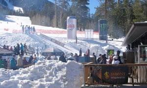 Skiing and snowboarding near Mount Charleston