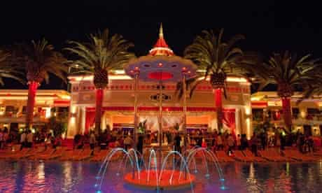 LMFAO performs with Paris Hilton at Surrender Nightclub, Encore in Las Vegas