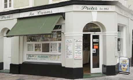 Prete's ice cream parlour