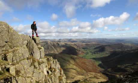 Kevin Rushby looking down to Langdale
