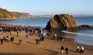 Boxing Day swim at Tenby