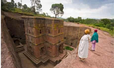 The rock-hewn church of Bet Giyorgis, Lalibela, Ethiopia.