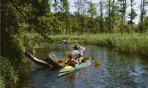 Krutynia canoeing