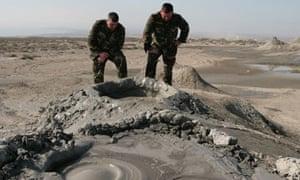 Mud volcano in Qobustan.