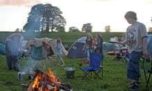 campfire at Gaia Tribe