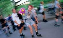 Rollerblading in Vondelpark