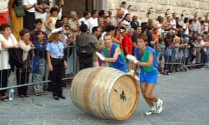 Bravio delle Botti feast Montepulciano Tuscany Italy